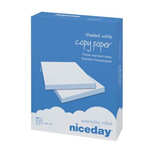 A4 80gsm Niceday White Copier// Printer Office Copy Paper 2500 Sheets 5 Reams Box