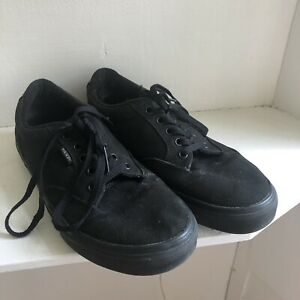 475bddec5dcec VANS Old Skool Black Canvas Gum Sole Lace Up Skate Shoes Men Size 9 ...