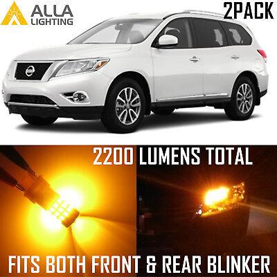 Alla Lighting Rear Signal Light 7440 7440NA Amber LED Bulbs for Acura RDX ~05 RL