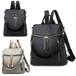 Womens-Ladies-Backpack-School-Shoulder-Bags-Nylon-Waterproof-Anti-Theft-Rucksack
