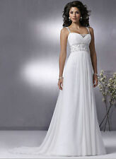 003 Summer Beach Wedding Dress Bridal Gowns Custom Size 6 8 10 12 14 16 18 20