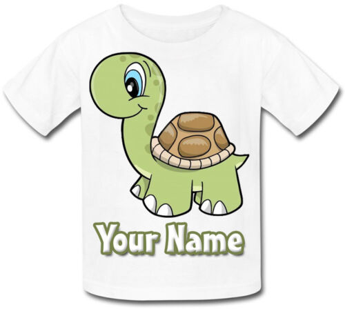 CUTE TURTLE PERSONALISED KIDS T-SHIRT GREAT GIFT FOR ANY CHILD /& NAMED TOO