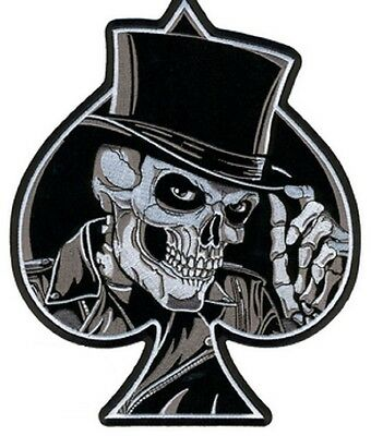 TOP HAT SKULL  NEW AWSOME GREAT  HIGH QUALITY  LARGE BIKER PATCH LRG-0439