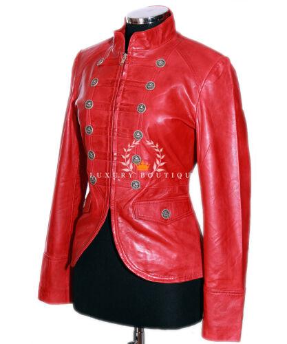 in donna in donna da di da vera pelle scarlatta Giacca rossa lavata agnello pelle qTwfExW1