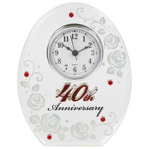 Nouveau Golden papillon mariage anniversaire Horloge Or Anniversaire Cadeau UK