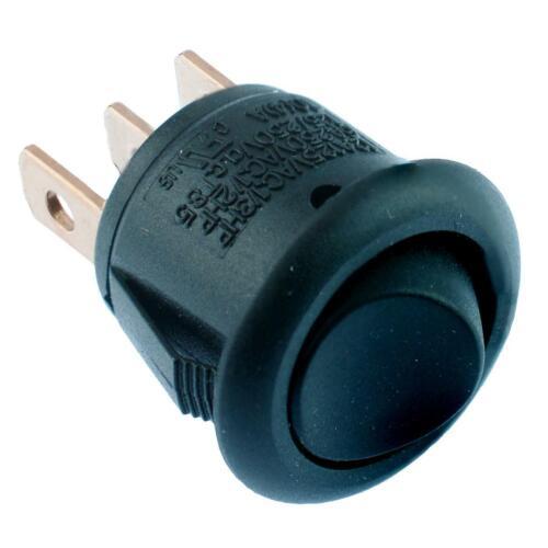 On-On Black Mini Round Rocker Switch 12A On-On On-Off-On SPST SPDT