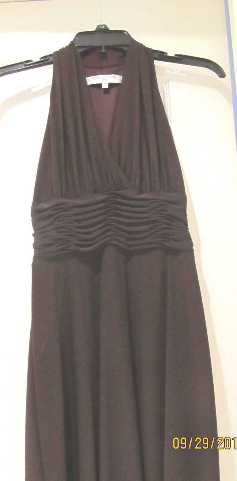 a3d49918443 NWOT Evan Picone Brown Polyester Spandex Stretch Sleeveless Knee Length  Dress 2P