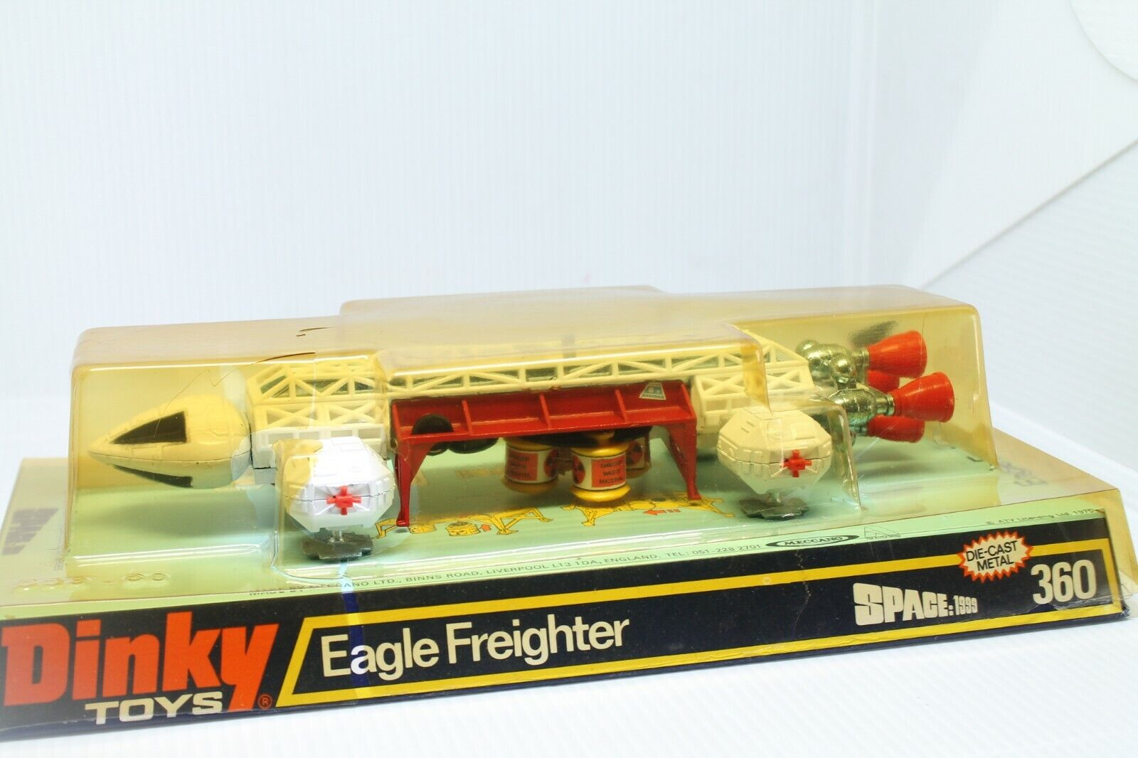 DINKY TOYS 360   EAGLE FREIGHTER SPACE 1999   OVP  ANDERSON  MINT  1976