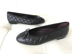 73a98402173 Image is loading 795-CHANEL-CLASSIC-QUILTED-BLACK-CALFSKIN-LEATHER-BALLET-