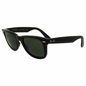 d8336d9af234f Ray-Ban Wayfarer Gafas de Sol 2140 901 Negro Verde G-15 Mediano 50mm ...