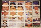 COMPLETE DONRUSS PUZZLES RUTH WILLIAMS GEHRIG CAREW COBB MANTLE 16 DIFFERENT
