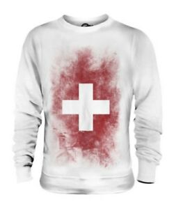 Unisex Sbiadito Svizzera Swiss Svizra Bandiera Schweiz Suisse Maglione ZEwdHqw