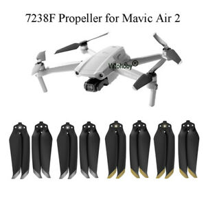 Mavic Air 2 Colorful Propellers Foldable Low Noise Quick-Release Propellers Blades for DJI Mavic Air 2 Drone Accessories 8 Pairs