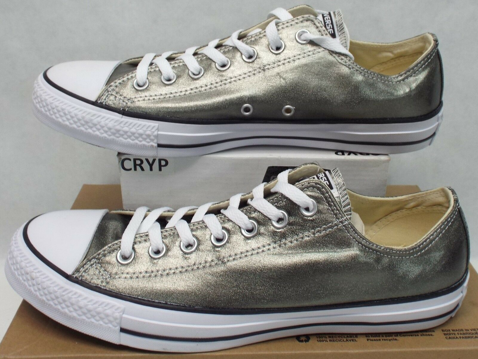 New Mens 12 Converse Chuck Taylor All Star CTAS OX Metallic Herbal  60 153182F