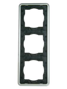 Kopp Abdeckrahmen Serie Vision Stahl Rahmen 3-fach dreifach Farbe Stahl