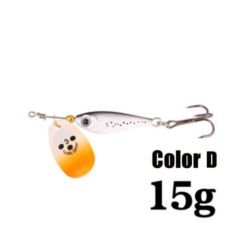 Spinner Tackle Sequin Twist Spoon Metal Fishing Bait Treble Hook Crankbaits