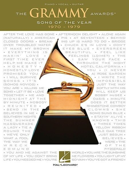 Grammy Awards Song Of The Year 1970 - 1979 PVG Book *NEW* Piano Guitar Music