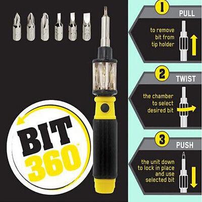 Bit 360 Screwdriver Twist-Bit Twist Bit 6 in 1 Screwdriver Open Repair Tools New