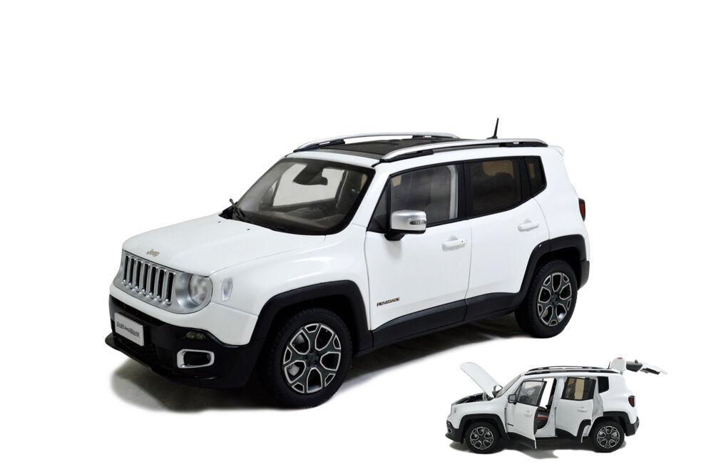 1 18 1 18 Scale Jeep Renegade 2016 White Diecast Model Car Paudimodel