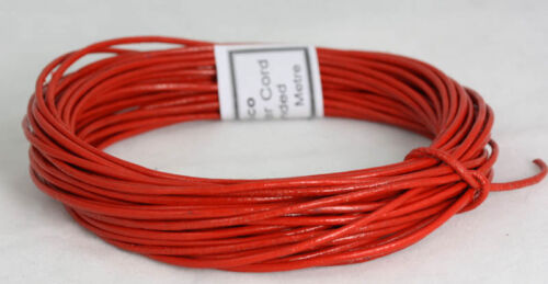 Real round leather cord  1.5MM-2MM thickness assorted lengths   Soft and strong