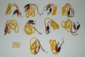 Vintage-COX-International-Slot-Car-Alligator-Clips-Controller-Wire-Vtg-10-NEW