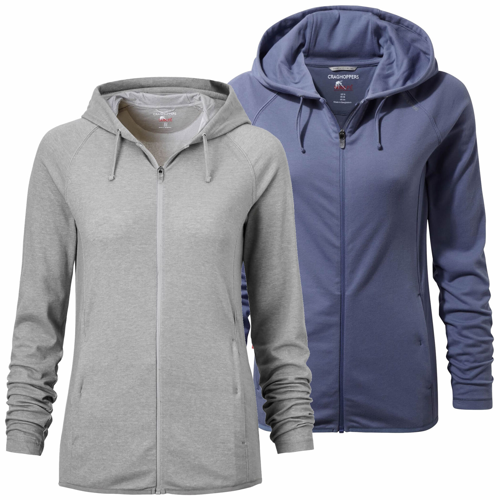 Craghoppers NosiLife Insect Repellent Sydney Womens Full Zip Hooded Top