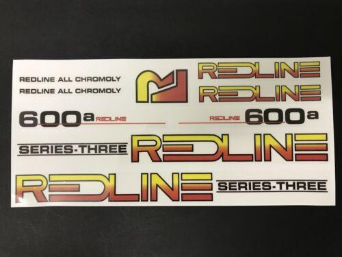 Redline 600a Repop Decal sticker set Old School BMX