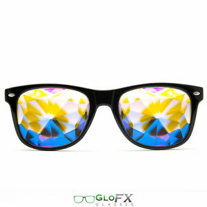 474469d4830 Kaleidoscope Crystal Glasses USA costume party club novelty 3D trippy rave  EDM