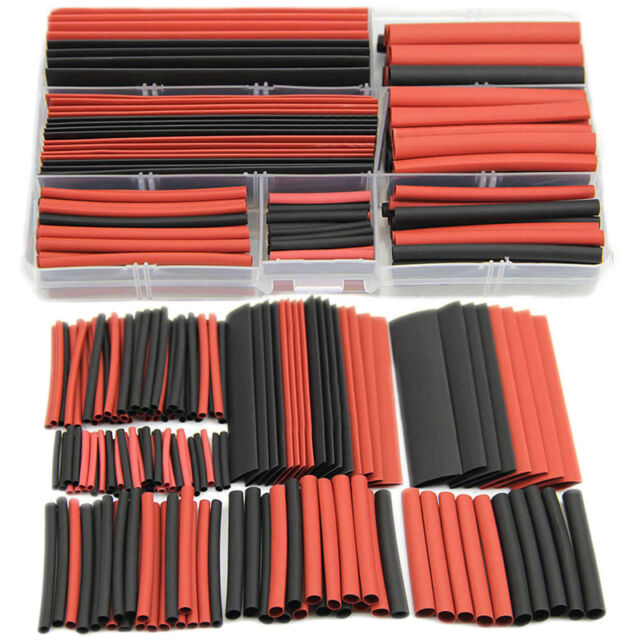 150pcs 2:1 Polyolefin Heat Shrink Tubing Tube Sleeving Wrap Wire Kit Cable JG