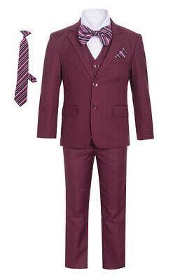 Magen Boys light gray suit 5 pc set coat,vest,pant,shirt,clip tie BS-B6 S 1-18