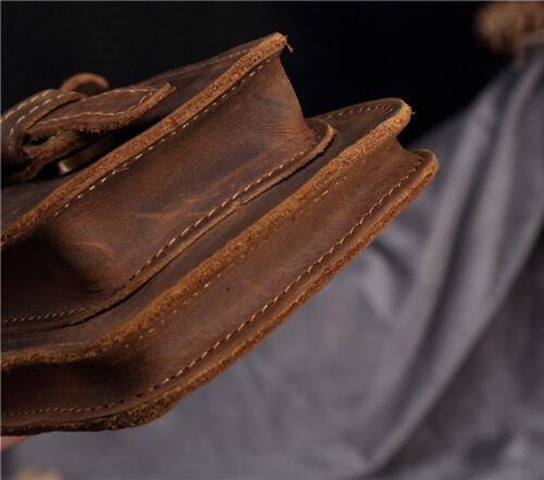 Vintage Men Leather Belt Hook Fanny Waist Bag Outdoor Travel Hiking Phone Pouch