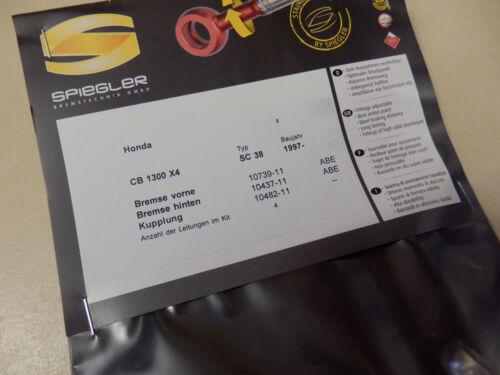 CB 1300 x4 sc38 Spiegler GOODRIDGE ANTERIORI /_ POSTERIORI FRIZIONE ABE BRAKE Pantaloni cb1300