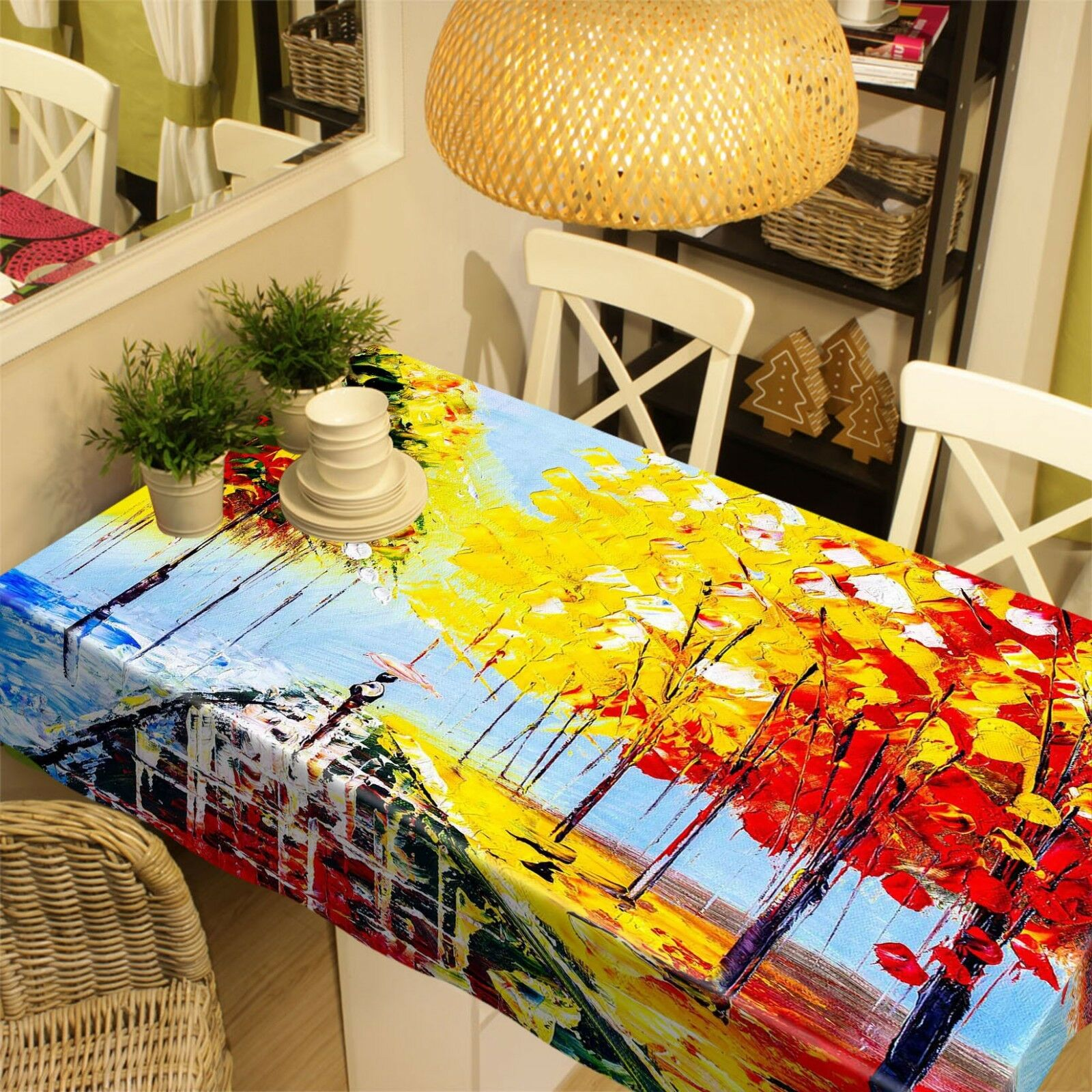 3D Painting Tree 10 Tablecloth Table Cover Cloth Birthday Party Event AJ Jenny
