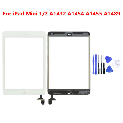 For ipad Mini 1// 2 Touch Screen Digitizer Glass Front Replacement Home Button