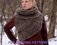 Katniss inspired cowl vest shawl armor sweater PATTERN TUTORIAL