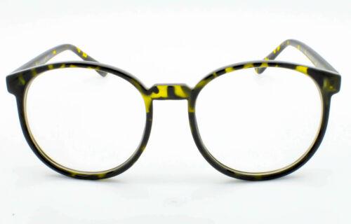 Retro Hoch Rund Klarglas Brille 70er Jahre Vtg Schwarz Landschildkröte Herren