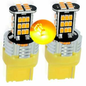 30SMD-T20-7440-AMBER-Orange-LED-Indicators-Blinkers-Lights-Bulbs-Rear-CANBUS
