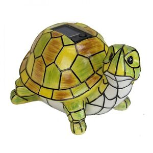 Image Is Loading Solar Powered Garden Decor Art Turtle Statue Outdoor