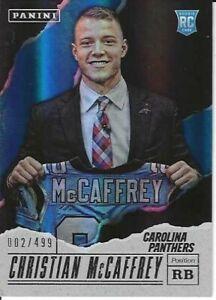 Christian McCaffrey Carolina Panthers 2017 Panini Fathers Day Rookie Card #/499