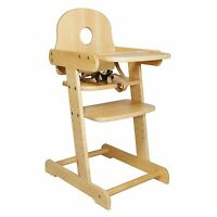 NEW BEECH WOOD MULTIHIGHT BABY HIGHCHAIR / SOLID WOODEN HIGH CHAIR