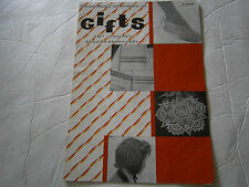 Gifts to Knit Crochet Pattern Book Swedish Embroidery Slippers Doily Hat Edging