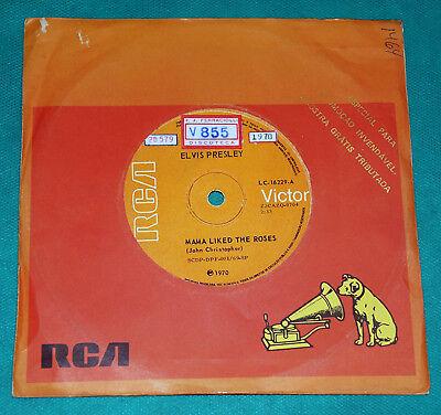 "Elvis Presley - Mama liked the roses BRAZIL 7"" Single 1970 RCA   eBay"