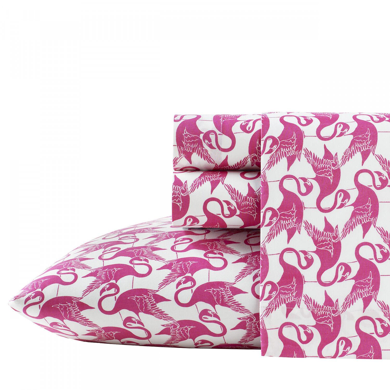 Poppy & Fritz Flamingo Geometric Cotton Sheet Set