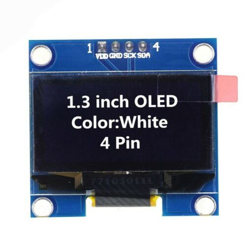 2X 1.3 inch SSD1106 I2C 128X64 OLED Display Module Board For Arduino White C1P2