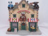 Lemax Make A Friend Teddy Bear Studio 35592 2013 In Box