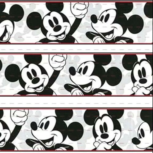 "7//8/"" 2 YARDS Classic Mickey Mouse Grosgrain Ribbon Craft Cards Scrapbk Gift Wrap"