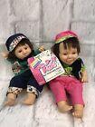 Set Of 2 Vintage Palm Dolls Happy Kids Bean Bag Dolls Collectibles Gift