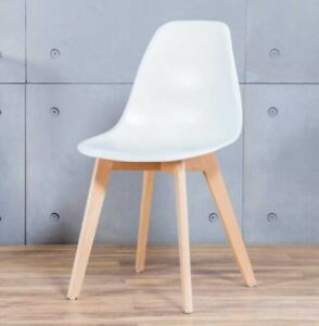 Sensational Details About 2X Stockholm Wooden Plastic Dining Chairs Charles Eames Style Crossed Leg White Onthecornerstone Fun Painted Chair Ideas Images Onthecornerstoneorg