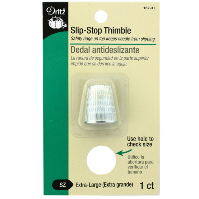 DRITZ NOTIONS DRI162-XL  DRITZ SLIP-STOP THIMBLE EXTRA LARGE