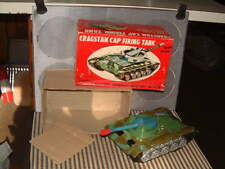 CRAGSTAN VINTAGE, TIN B/O CAP FIRING TANK! COMPLETE W/BOX! FULLY OPERATIONAL!